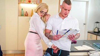 Hot blonde teachers with big breasts Kinky tutor - hot milf angel wicky seduces bangs student