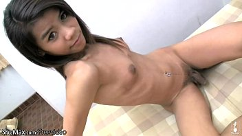 Panty shemale teen - Playful ladyboy with puffy nipples is teasing her chick dick