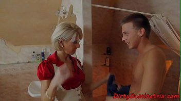 Cougar domination Dominatrix cougar screwed by young sub guy