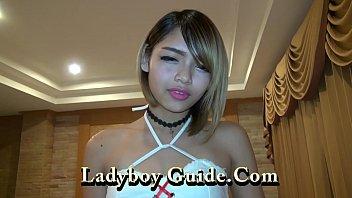Tattooed Ladyboy Wanks In Asian Hotel