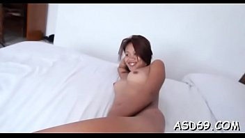Cute oriental sex doll gets her face hole fucked by a horny guy thumbnail