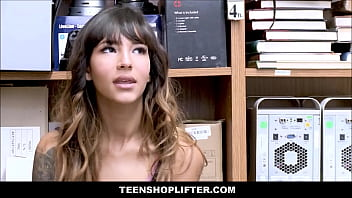 Sex security cameras Tiny latina teen with a cute ass kitty carrera caught shoplifting has sex with officer for no cops