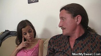 He finds her riding his dad's cock Image