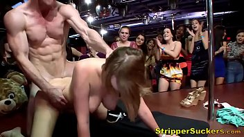 Dirty Cheating Sluts Suck & Fuck Male Strippers At CFNM Party