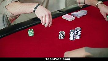 Teenpies - Poker Players Run Train On Teen Slut Avi Love