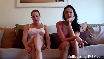 Brutal cock and ball torture Im going to give you a brutal ballbusting