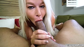 Busty stepmom London River gets caught by her stepson watching porn