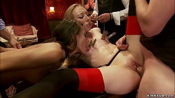 Slim slave suck and fuck huge dick
