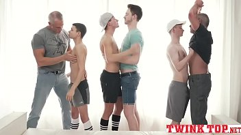 Dad and twink sex - Boys and daddies hottest orgy old vs young bareback gangbang-twinktop.net