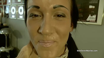 British chav Chantelle Fox licking old mans asshole