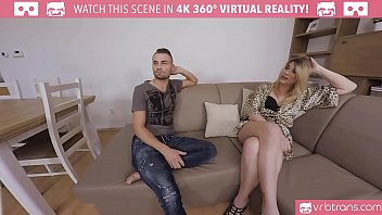 VRBTrans.com Angelina Toress Seducing her friend and fuck him hard in the ass vr porn