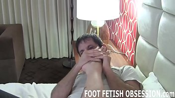 Its so much fun teasing your cock with my feet