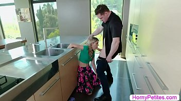 Teen housekeeper licked and fucked by boss