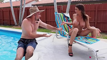 Gigantic Boobs MILF Alexis Fawx Charms Pool Boy video