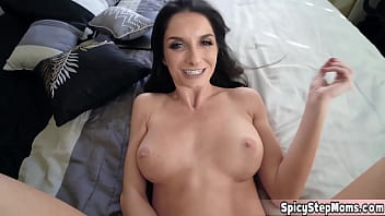 Hot MILF busty stepmother Sylvia Saige is too horny