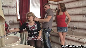 Girlfriends hot mom inlaw takes it from behind thumbnail