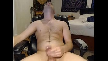 sexy blonde young guy jerking off on webcam
