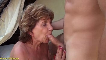 76 years old mom brutal outdoor fucked by stepson