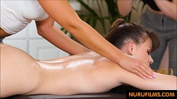 Lesbian sex in the massage parlor