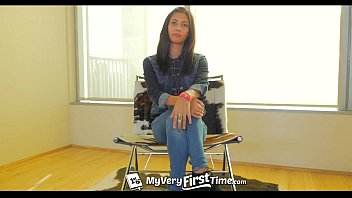 MyVeryFirstTime - Awkward Jade Jantzen takes two cocks for the first time thumbnail