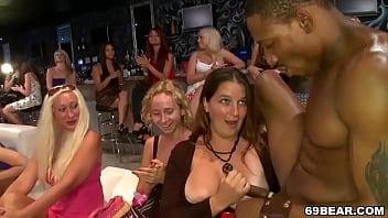 Beautiful Ladies Tastes Male Stripper Cock