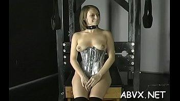 Lusty floozy is spreading her legs wide open era