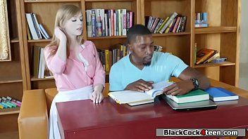 Black tutor fucks Dollys tight pussy thumbnail