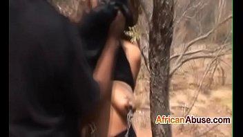 Ebony chick got spanked and fucked hard2