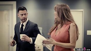 Granny Secretary Darla Crane Fucks Her New Young Boss In His Office