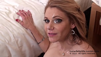 Beautiful hotwifeforlife takes two loads