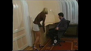 Vintage short skirt Hot secretary