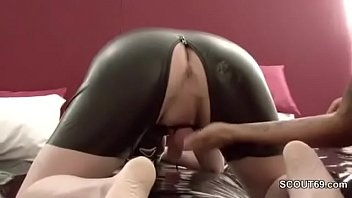 German Femdom Teen Fuck user Anal and piss in his Face - 69VClub.Com