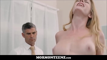 Hot Mormon Sister Sucks And Fucks Tied Up Church Brother While President Watches