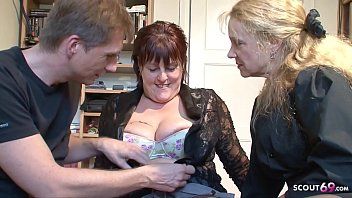 Mature Couple Seduce MILF Neigbour to Join in 3some German
