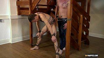 Rope Bound Leo James Gets Used
