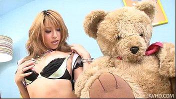 Gorgeous Hatsuka Kobayashi with her Teddy toys her body pornhub video