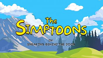 Sneaking Behind The Door - The Simptoons