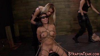 Blindfolded sub bdsm   fetish   blindfold   lezdom