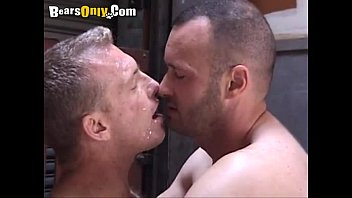 Mature hairy gay blowjobs Furry mature dude gets a facial