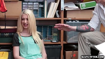 Hot Blonde gets fucked for her man crime