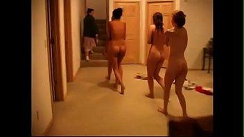Nude girls punished Four girls spanked