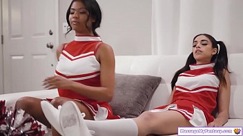 Black pre teen - Cheerleader bffs massage and lick pussy