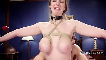 Tied up big tits slaves hard fucked