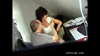 Video from hidden cam - mature fucked hard at office table