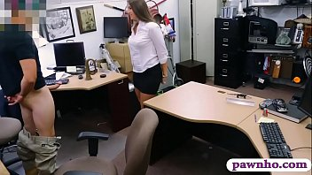 Phat ass brunette woman gets railed by pervert pawn guy