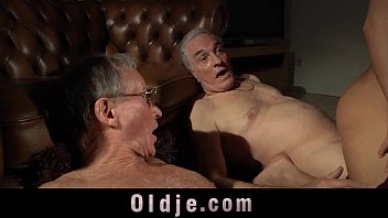 Men and cunnilingus Young babes fucking surprise for old men in the mansion of hard cumshots