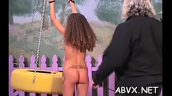 In nature's garb chicks roughly playing in bondage xxx amateur movie scene