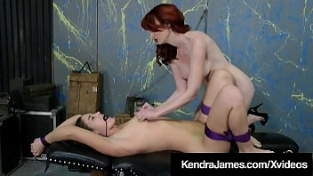 Red Dom Kendra James Makes Bound Slave Kendra Heart Cum! thumbnail