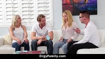 Family Game Foursome Orgy