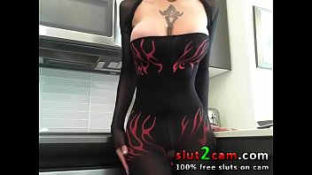 Catsuit Orgasm Babe With Big Boobs Squirting At www.slut2cam.com